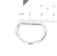 D-Ringe 20 x 15 x 3,0mm Stahl, Silbern vernickelt