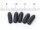 5 Stück Weich-PVC-Tauchkappen Innen-Durchmesser 2,8 mm, 10 mm innere Länge, schwarz