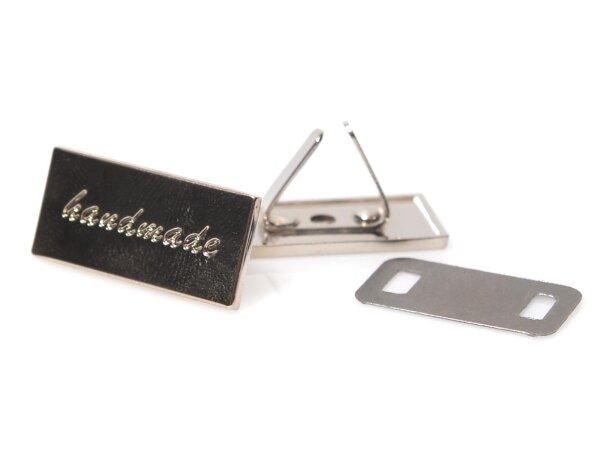 Metal Label, Handmade, Engraved, 3cm, Nickel