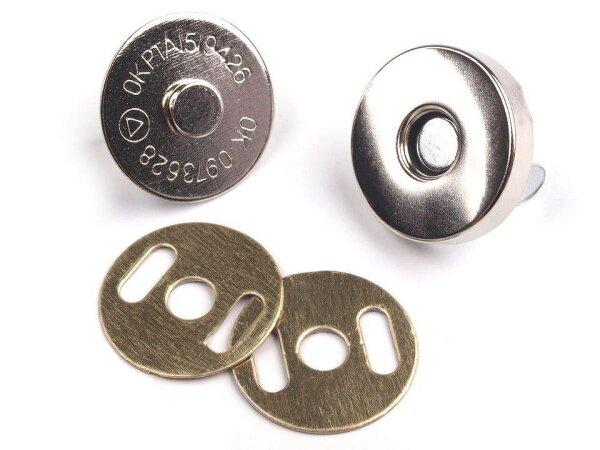 Magnetverschluss Ø18 mm silber
