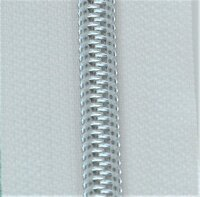 Kunststoff-Reißverschluss silber metallisiert natur