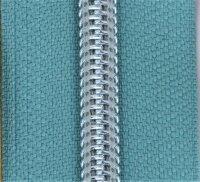 Kunststoff-Reißverschluss silber metallisiert mint