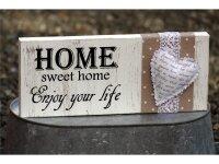 """Flocktext """"Home sweet home"""" auf Trägerfolie"""